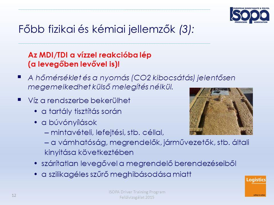 Főbb fizikai és kémiai jellemzők (3):