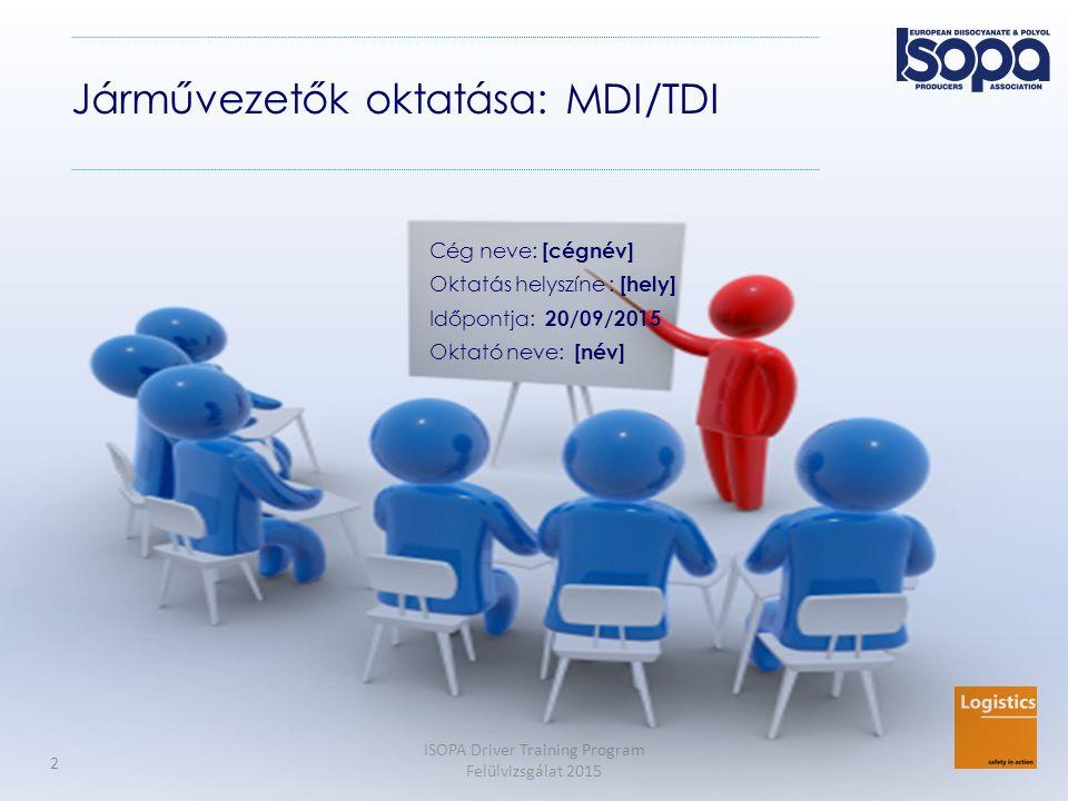 Járművezetők oktatása: MDI/TDI