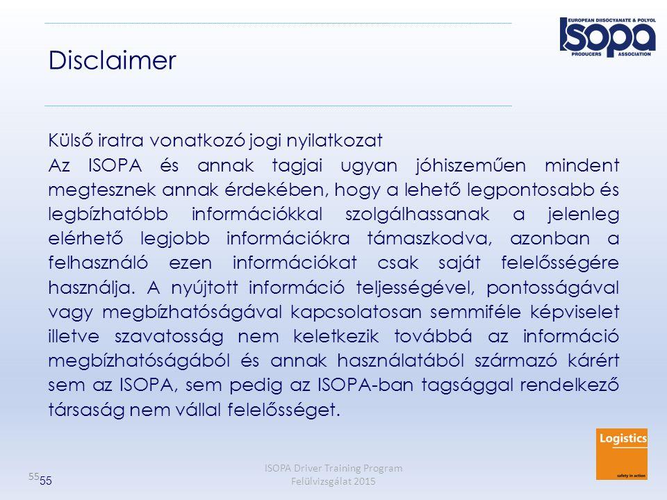 Disclaimer Külső iratra vonatkozó jogi nyilatkozat