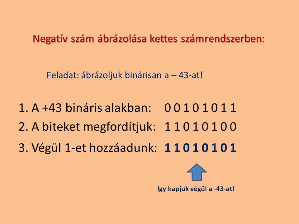 2. A biteket megfordítjuk: 11010100