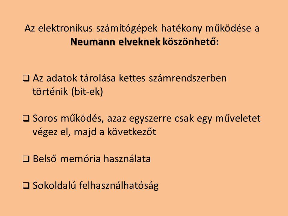 Neumann elveknek köszönhető:
