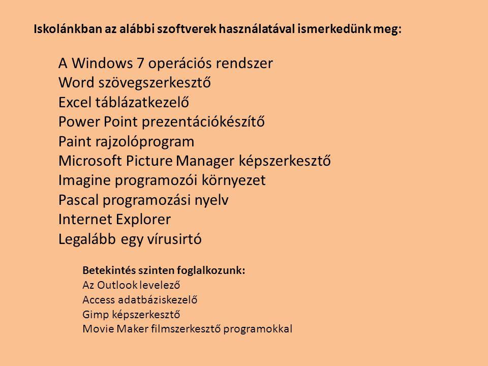 A Windows 7 operációs rendszer Word szövegszerkesztő