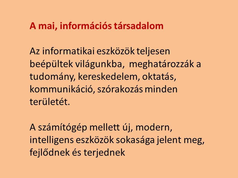 A mai, információs társadalom