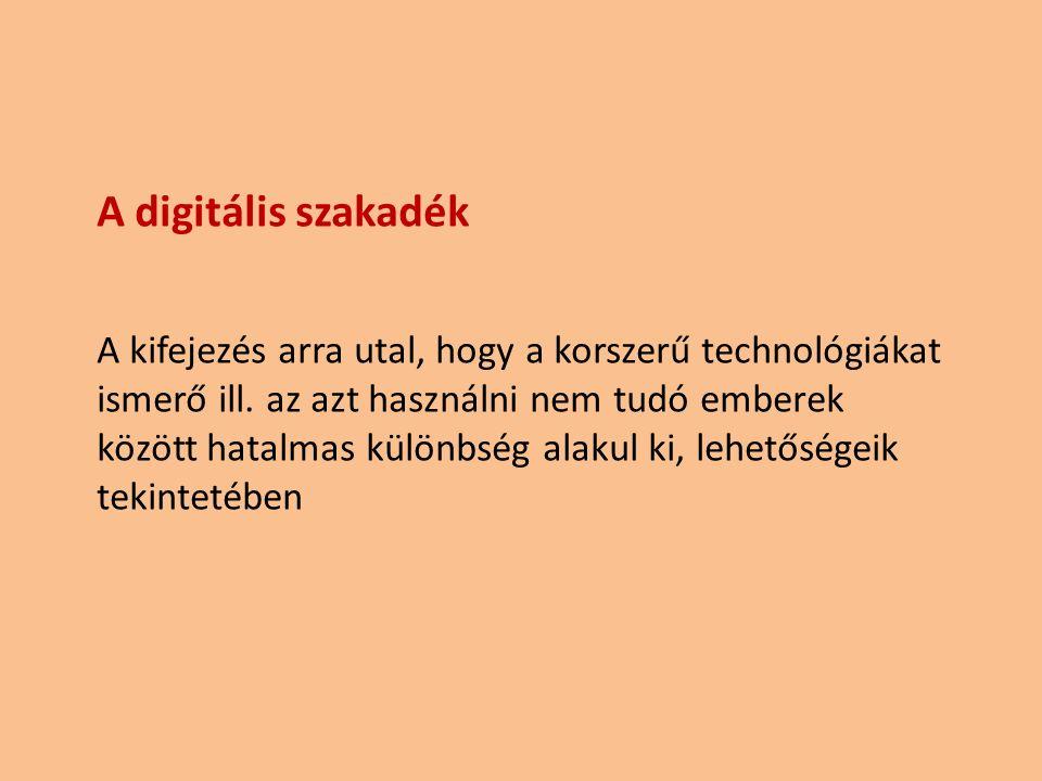 A digitális szakadék