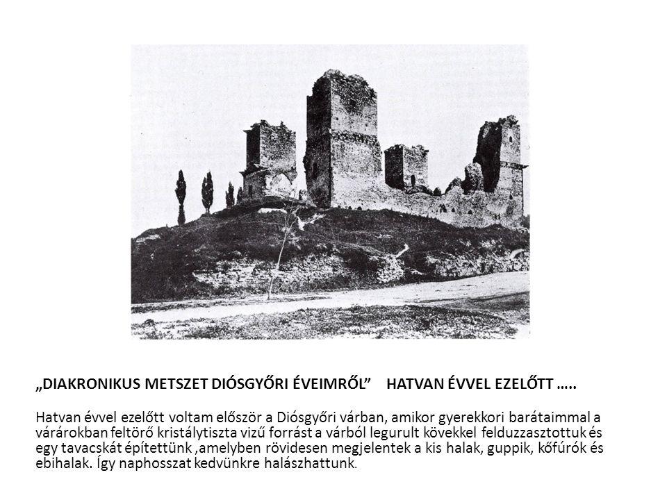 """""""DIAKRONIKUS METSZET DIÓSGYŐRI ÉVEIMRŐL HATVAN ÉVVEL EZELŐTT ….."""