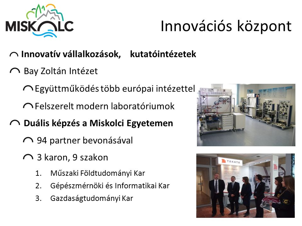 Innovációs központ Bay Zoltán Intézet