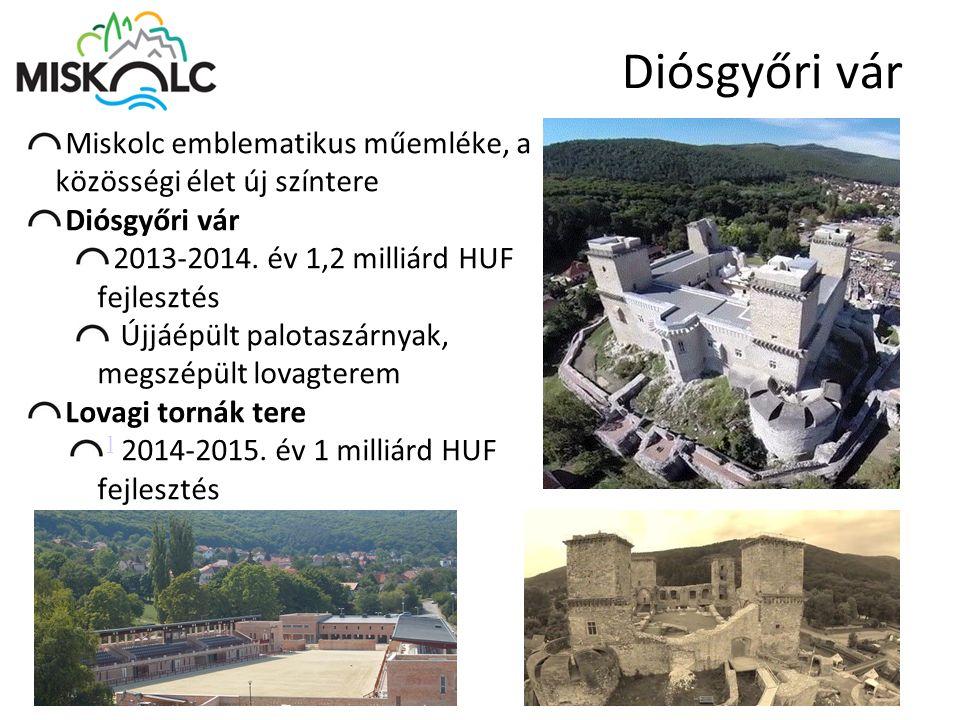 Diósgyőri vár Miskolc emblematikus műemléke, a közösségi élet új színtere. Diósgyőri vár. 2013-2014. év 1,2 milliárd HUF fejlesztés.