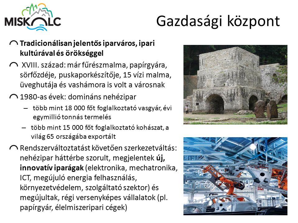 Gazdasági központ Tradicionálisan jelentős iparváros, ipari kultúrával és örökséggel.