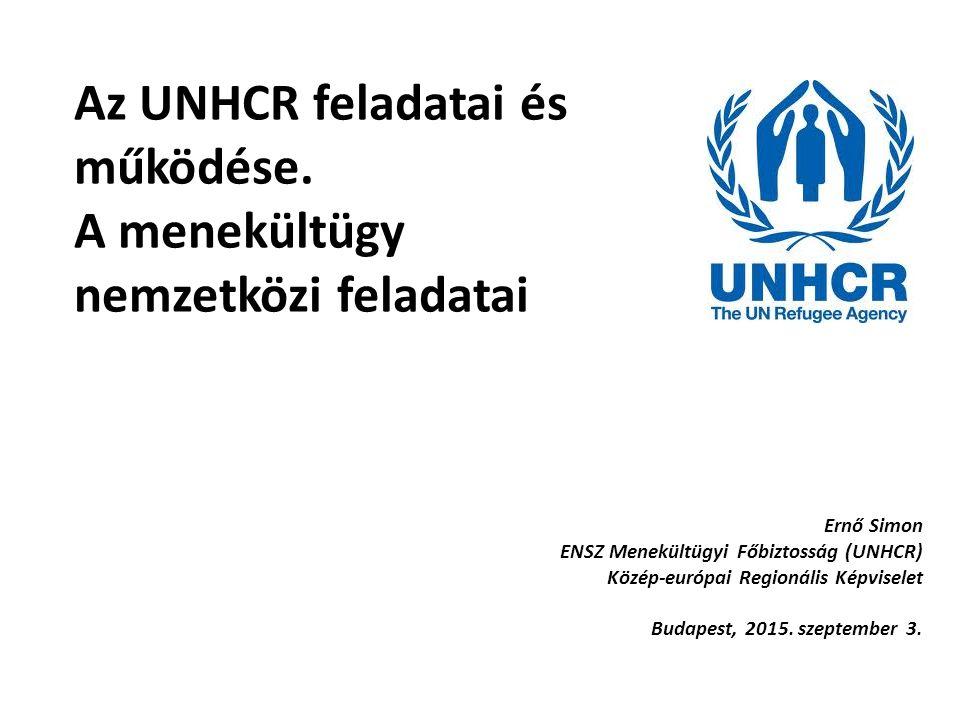 Az UNHCR feladatai és működése. A menekültügy nemzetközi feladatai