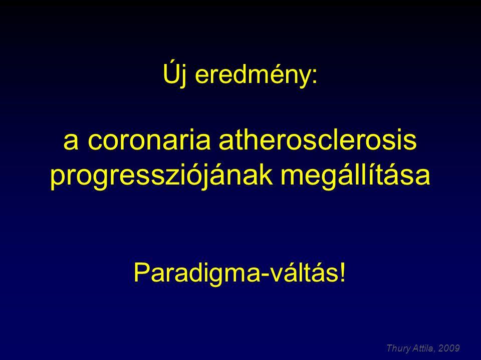 Új eredmény: a coronaria atherosclerosis progressziójának megállítása Paradigma-váltás!