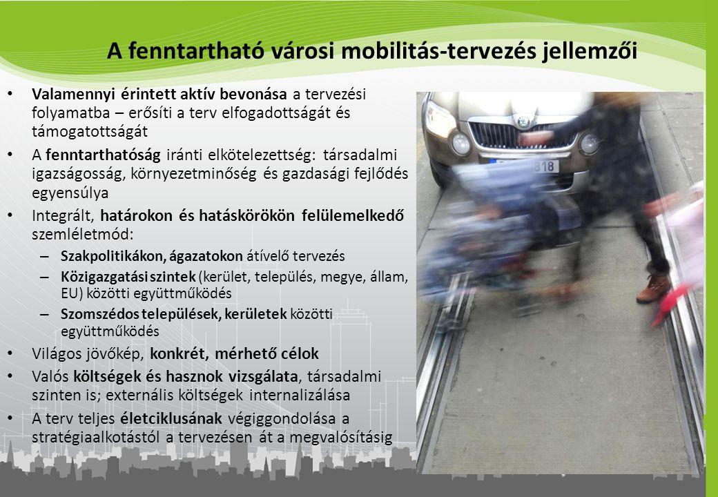 A fenntartható városi mobilitás-tervezés jellemzői