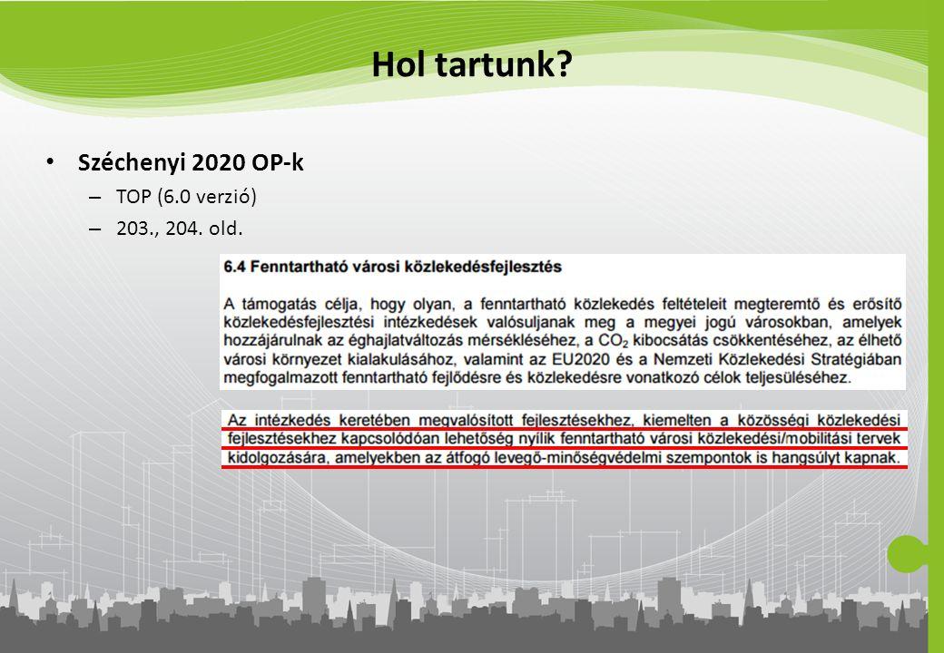 Hol tartunk Széchenyi 2020 OP-k TOP (6.0 verzió) 203., 204. old.