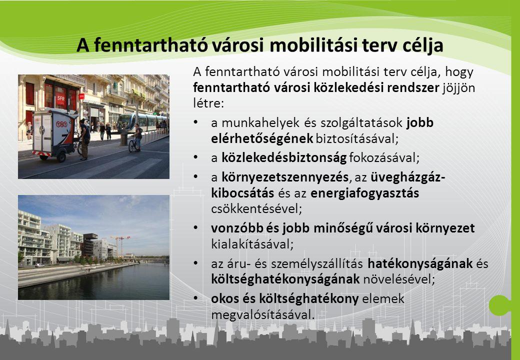 A fenntartható városi mobilitási terv célja