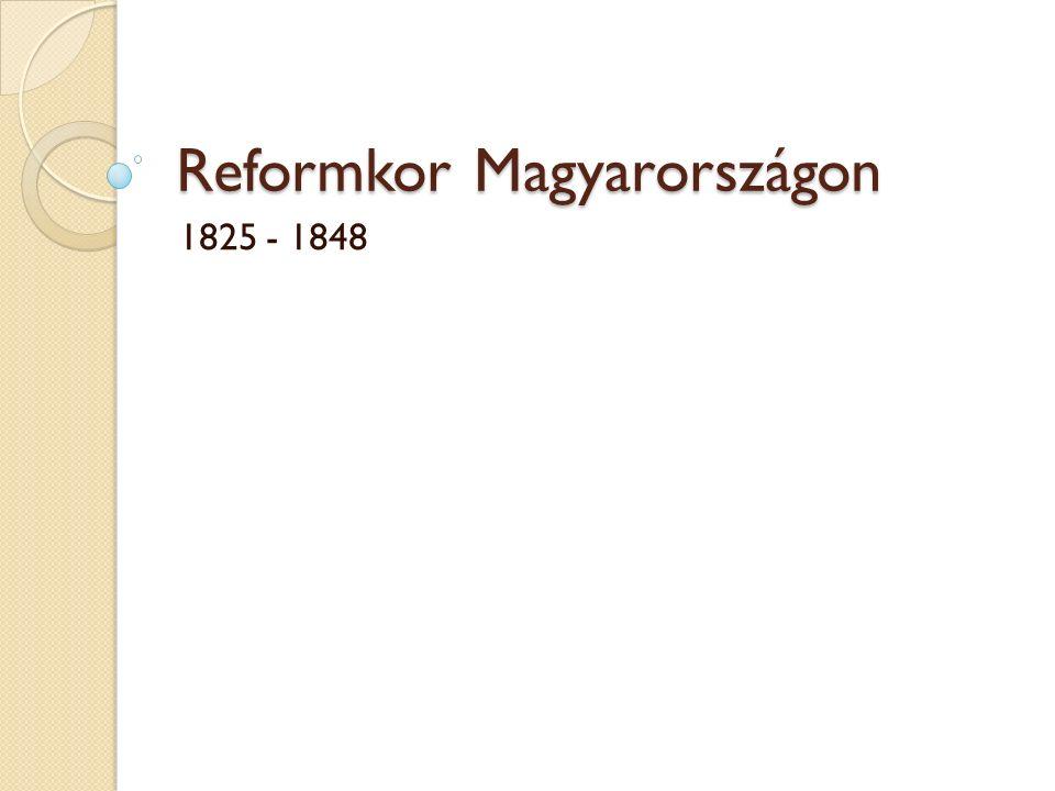 Reformkor Magyarországon