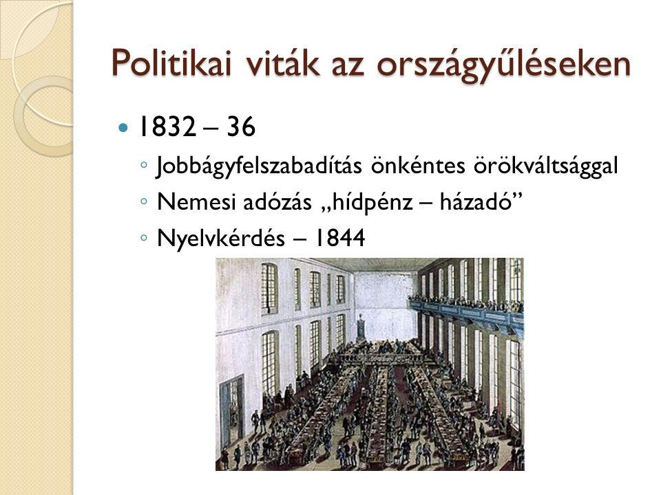 Politikai viták az országyűléseken