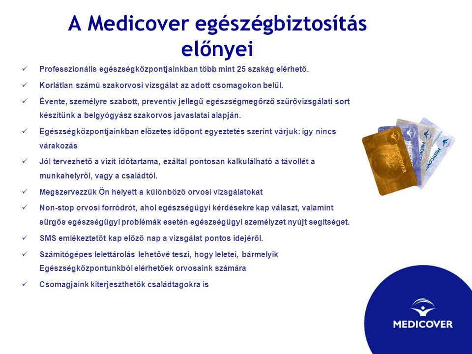 A Medicover egészégbiztosítás előnyei