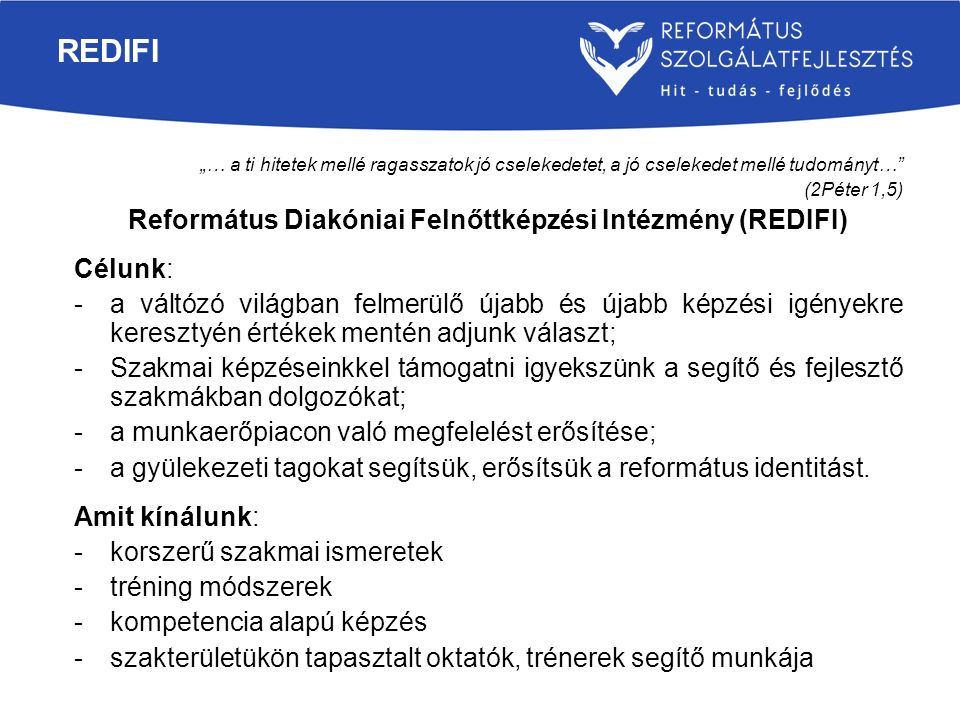 Református Diakóniai Felnőttképzési Intézmény (REDIFI)