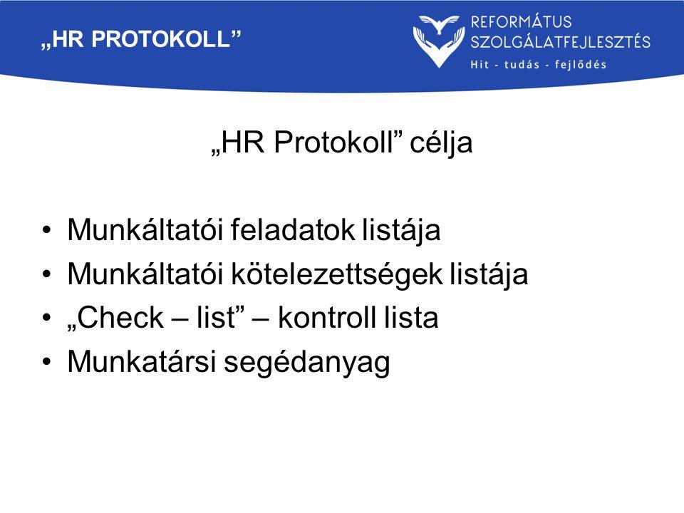Munkáltatói feladatok listája Munkáltatói kötelezettségek listája