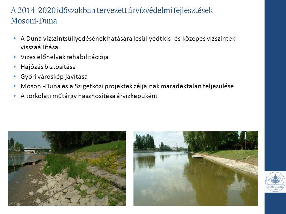 A 2014-2020 időszakban tervezett árvízvédelmi fejlesztések Mosoni-Duna