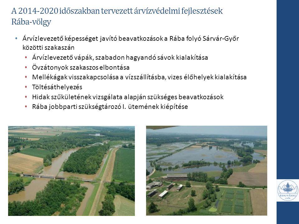 A 2014-2020 időszakban tervezett árvízvédelmi fejlesztések Rába-völgy