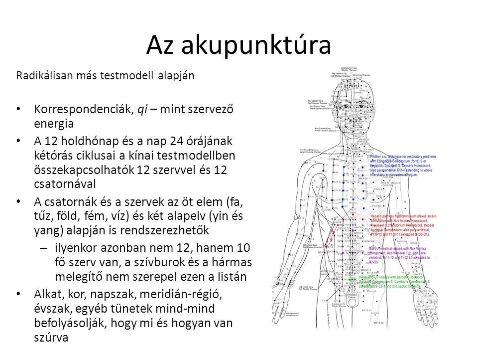 Az akupunktúra Korrespondenciák, qi – mint szervező energia