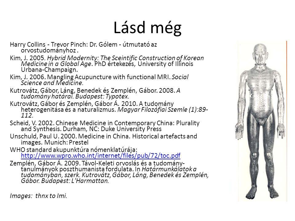 Lásd még Harry Collins - Trevor Pinch: Dr. Gólem - útmutató az orvostudományhoz .