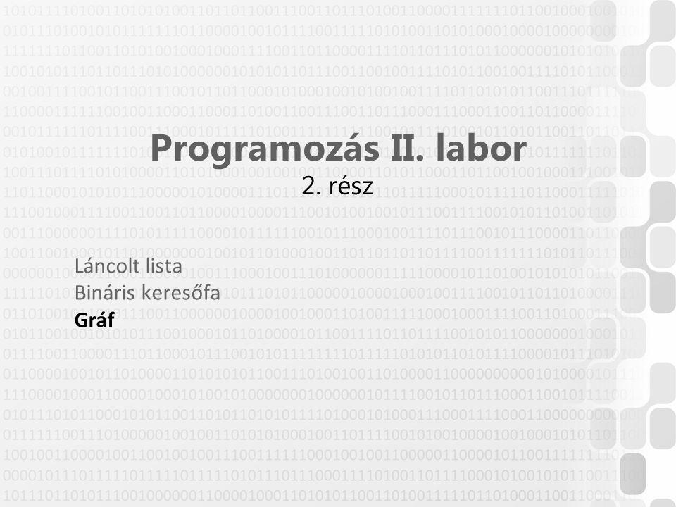 Programozás II. labor 2. rész