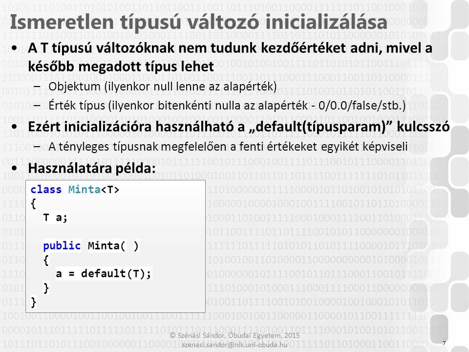 Ismeretlen típusú változó inicializálása