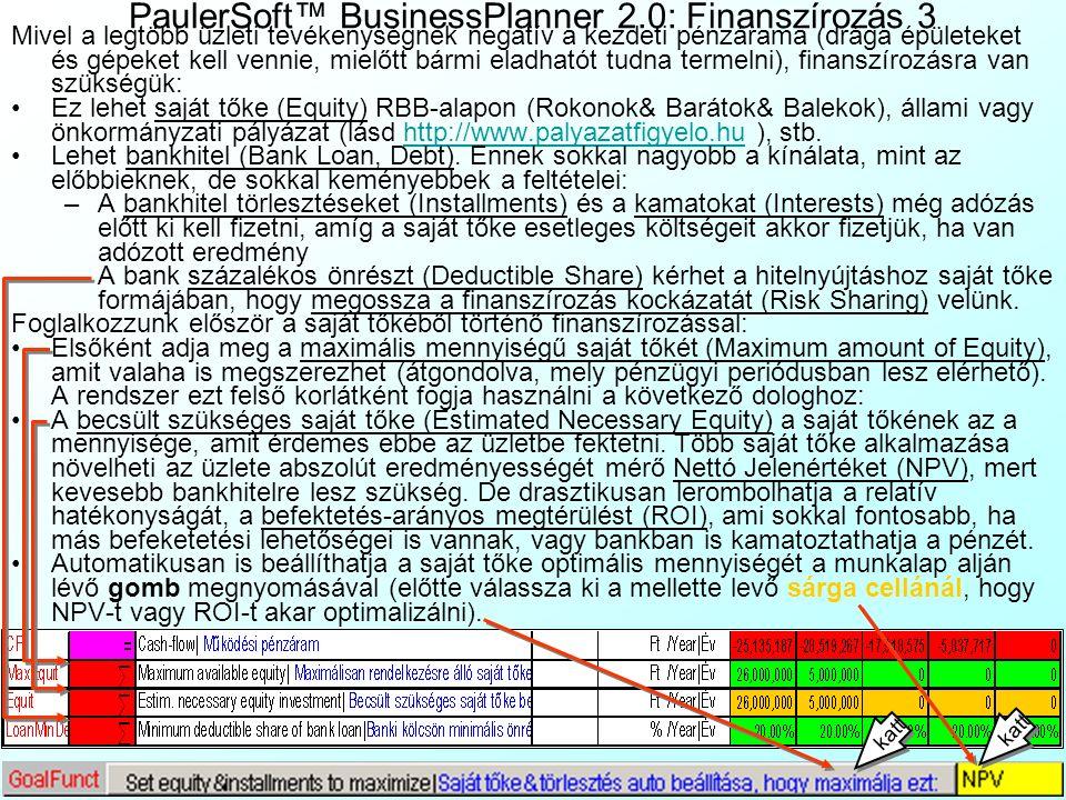 PaulerSoft™ BusinessPlanner 2.0: Finanszírozás 3