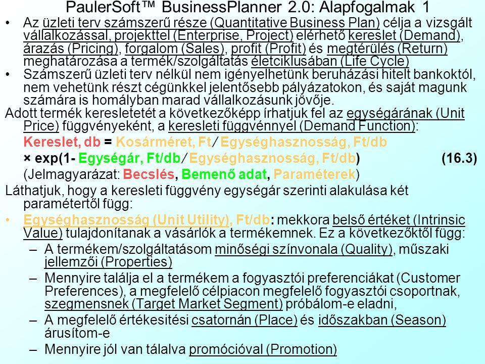 PaulerSoft™ BusinessPlanner 2.0: Alapfogalmak 1