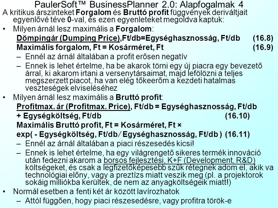 PaulerSoft™ BusinessPlanner 2.0: Alapfogalmak 4