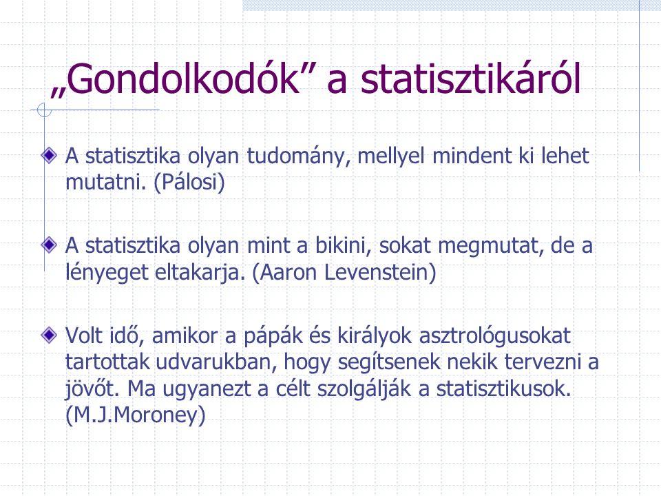 """""""Gondolkodók a statisztikáról"""