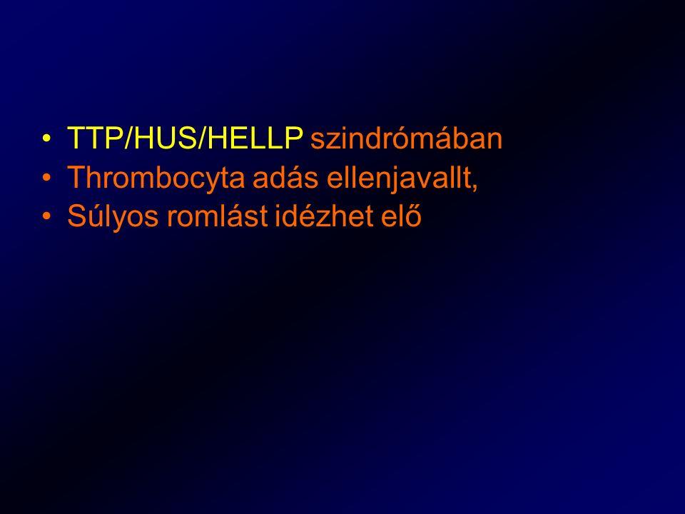 TTP/HUS/HELLP szindrómában