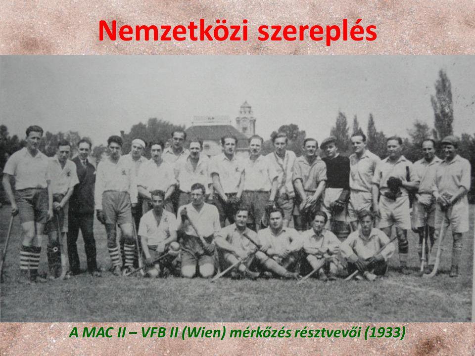A MAC II – VFB II (Wien) mérkőzés résztvevői (1933)