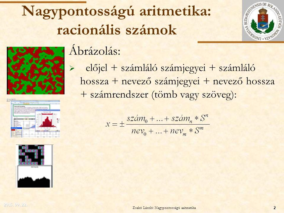Nagypontosságú aritmetika: racionális számok