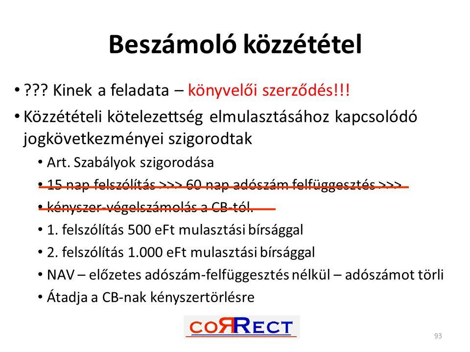 Beszámoló közzététel Kinek a feladata – könyvelői szerződés!!!