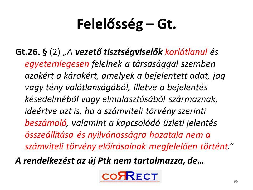 Felelősség – Gt.