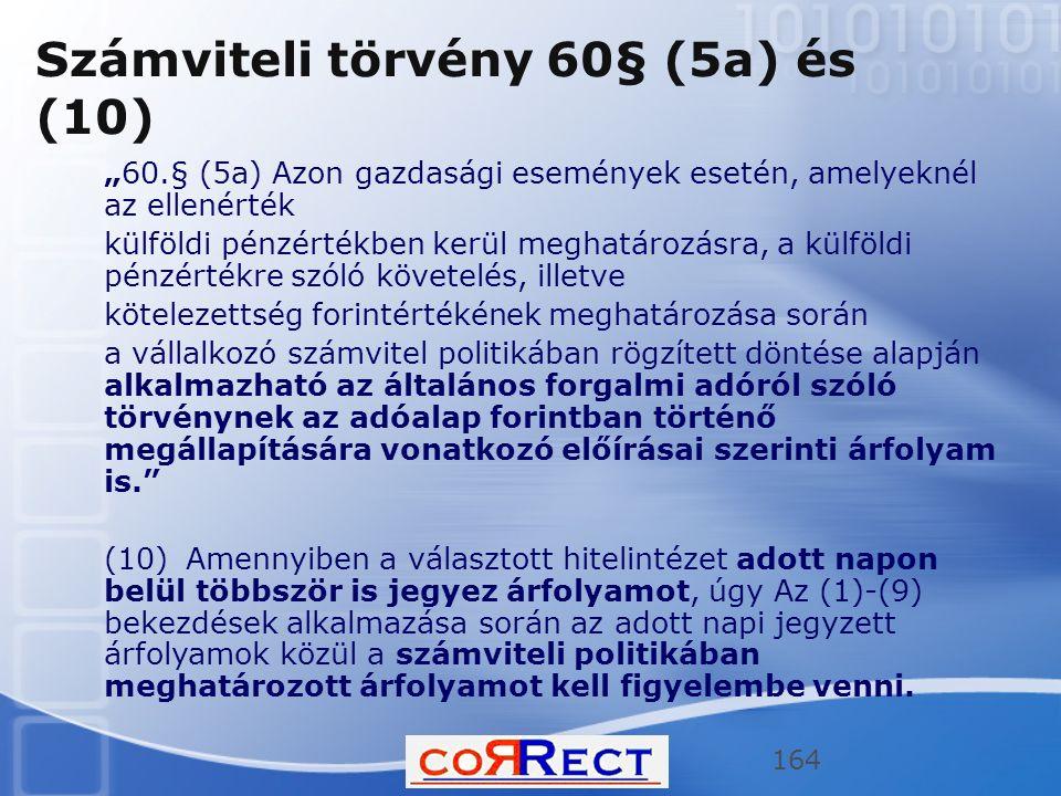 Számviteli törvény 60§ (5a) és (10)