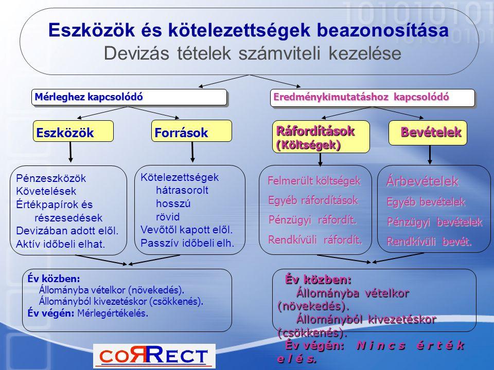 Eszközök és kötelezettségek beazonosítása