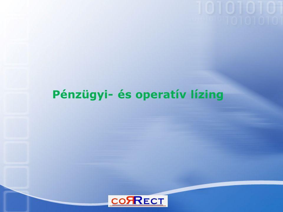 Pénzügyi- és operatív lízing