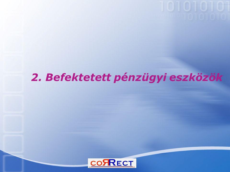 2. Befektetett pénzügyi eszközök