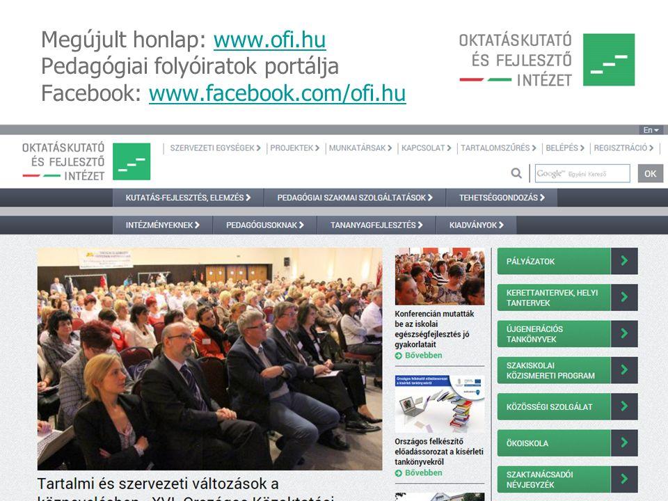 Megújult honlap: www. ofi