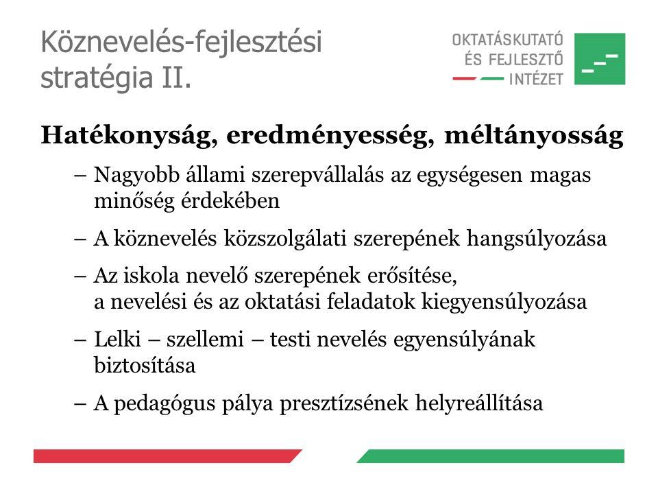 Köznevelés-fejlesztési stratégia II.