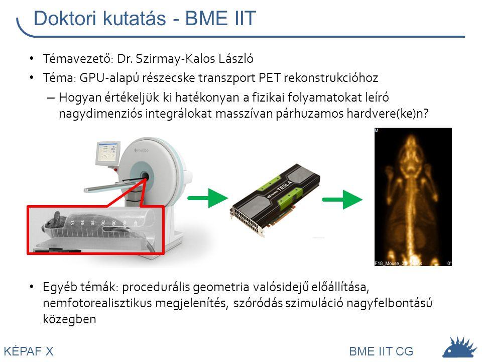 Doktori kutatás - BME IIT