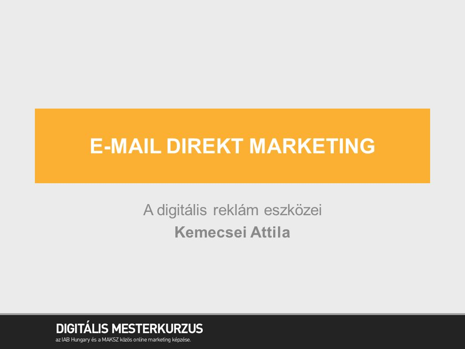 E-mail Direkt marketing