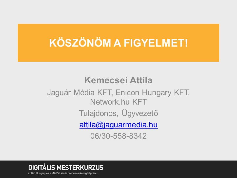 Jaguár Média KFT, Enicon Hungary KFT, Network.hu KFT