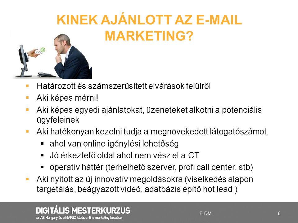 Kinek ajánlott az e-mail marketing