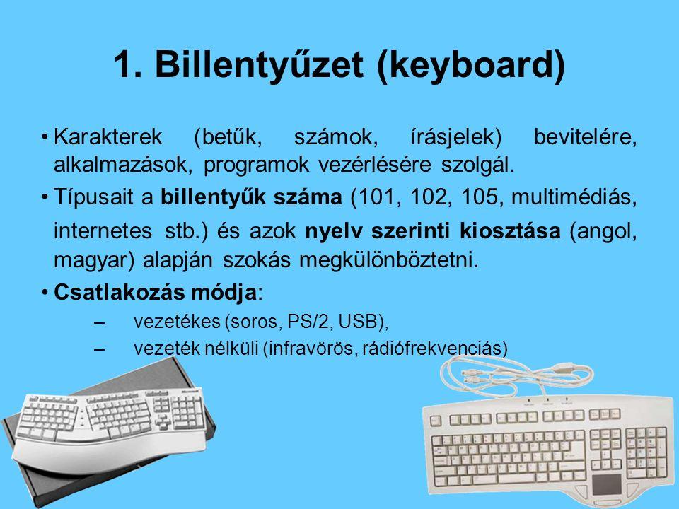 1. Billentyűzet (keyboard)