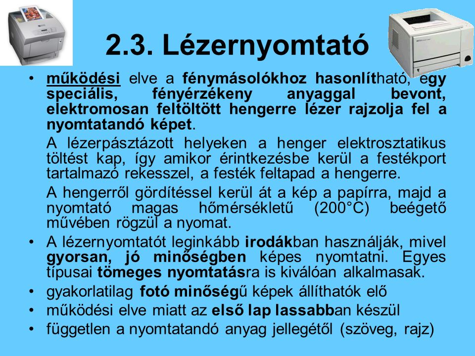 2.3. Lézernyomtató