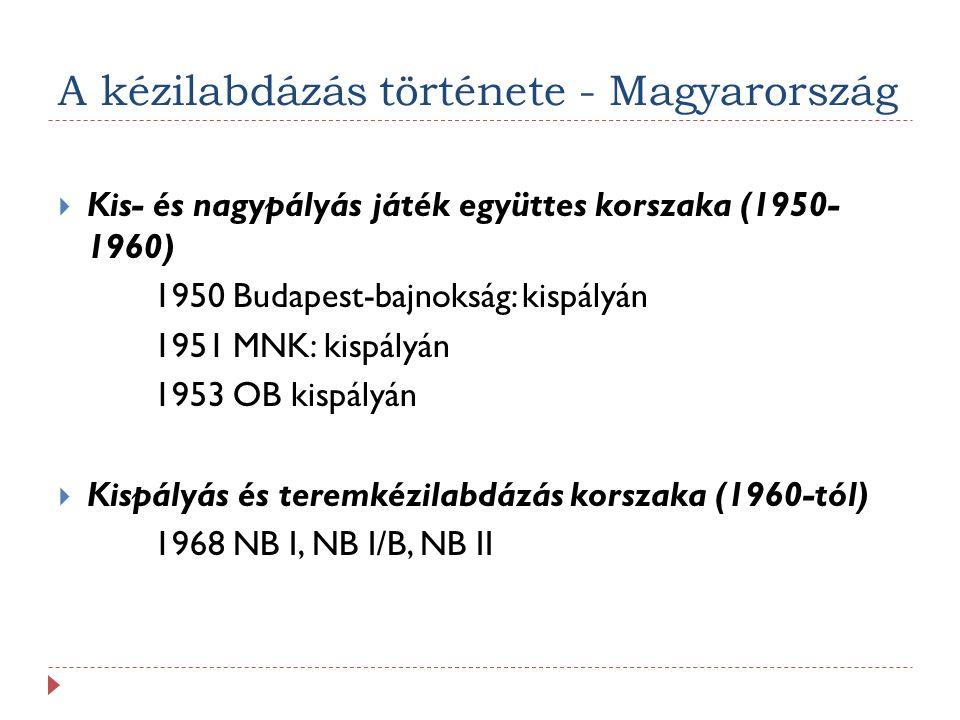 A kézilabdázás története - Magyarország